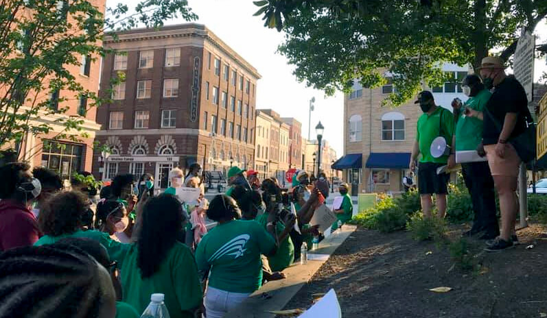 Saunders joins AFSCME Maryland caravan to call on state leaders for justice, action