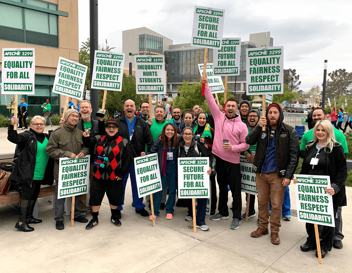 AFSCME Members Join University of California Strike for Day of Solidarity