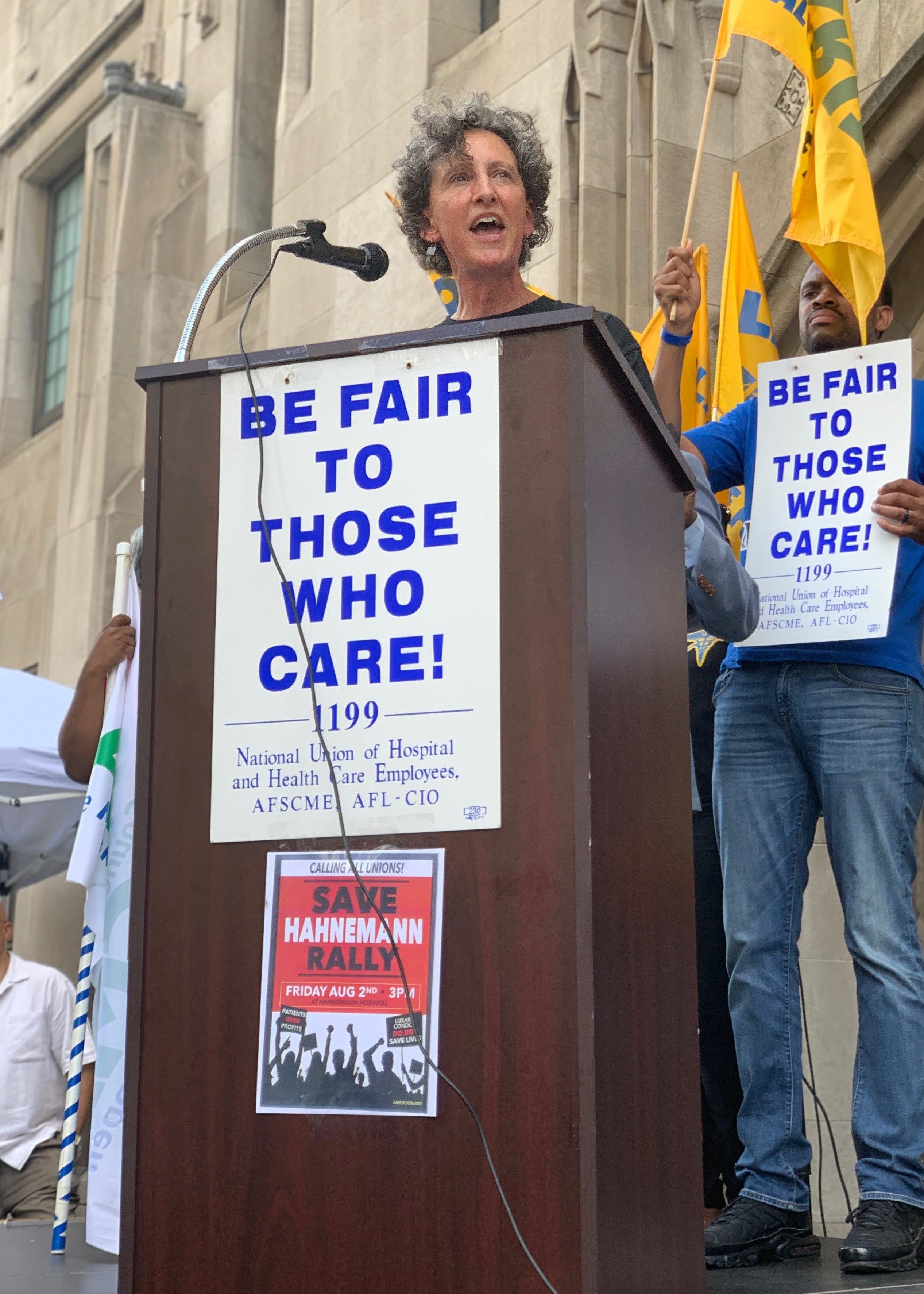 S-T McBride at PA Hospital Rally: 'We Don't Put Corporate Greed over Human Need'
